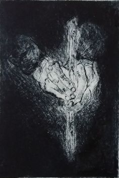 """Roberto Bassani  """"Le repos"""" Etching, drypoint"""