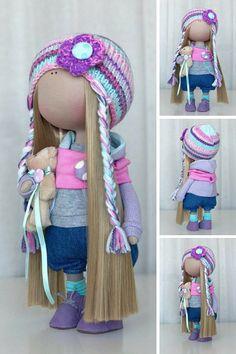 Handmade doll Tilda doll Fabric doll Textile doll Interior