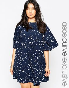 ASOS+CURVE+Swing+Dress+in+Star+Print