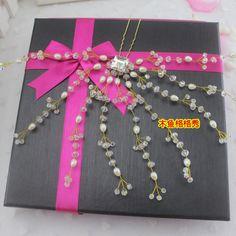 Европейский и американский ручной головной убор невесты ювелирные изделия жемчуг заколка для волос кристалл Сумма ювелирных свадебных ювелирных свадьбы Сумма - Taobao