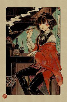 Kai Fine Art is an art website, shows painting and illustration works all over the world. Girls Anime, Anime Art Girl, Manga Art, Character Inspiration, Character Art, Character Design, Aesthetic Anime, Aesthetic Art, Pretty Art