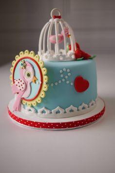 Birdy Cake By kikikaikai on CakeCentral.com