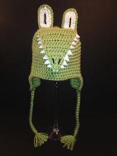 Alligator Hat in Light Green
