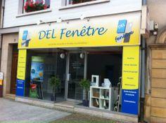 Enseigne et Vitrine pour la boutique DEL Fenêtre à Sainte-Marie-Aux-Chênes