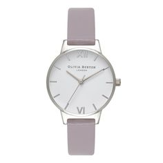 Cool Olivia Burton White Dial Grey Lilac & Silver Watch   OB16MDW10 just added...