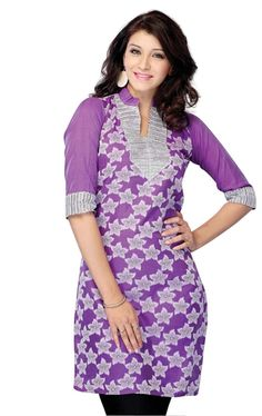 Picture of Ideal Violet Color Party Wear Tunics Online Shopping