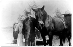 horse - grandfather - vintage - farm - people - grandmother - B