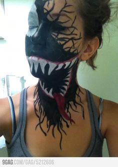 Venom Face Paint. Wow this is amazing
