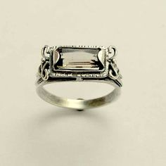 Sterling+silver+ring+smoky+quartz+gemstone+ring+by+artisanimpact,+$64.00