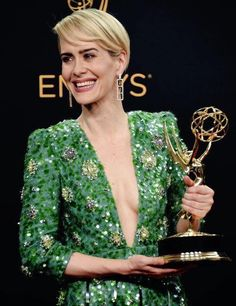 Finally!!! Master of her craft, one of a kind, Sarah Paulson. Can we get her an Oscar next, please?
