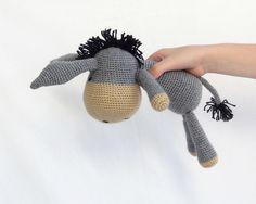 Handmade amigurumi donkey an excellent stuffed animal por ittooktwo
