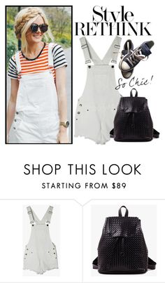 """How to wear overall!"" by m-zineta ❤ liked on Polyvore featuring Converse"