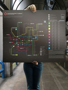 Different colours to experiment the data visualization in creating a subway sitemap information design.
