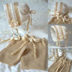Newborn Hat and Pants Set Newborn Bonnet and by verityisabelle, £36.00