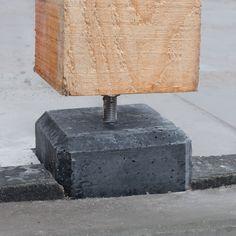 Betonpoer 15 x 15 x 60 cm Betonvoet overkapping