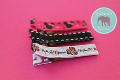 Minnie Mouse Hair Clip Trio by GrayElephantBoutique on Etsy