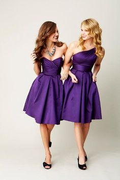 Love the style of these bridesmaids dresses, not necessarily the color