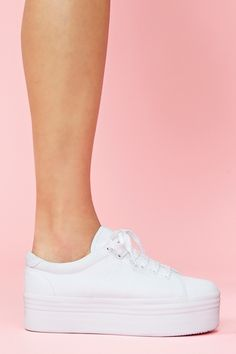 Zomg Platform Sneaker in White old...taking me back to the 90's & Baby Spice from the Spice Girls lol.