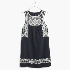 ecc36bf0ce61 Details about Madewell Women's Stripe Embroidered Breeze Dress Size Small  New