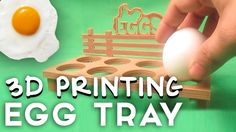 3D Printing a tray of Eggs  Today i am 3D Printing an Egg Tray that i designed by myself. Its a pretty simple design, but looks really nice when kept on a table with the Eggs in it. I would recommend you guys to go ahead & print one for yourself.