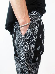 bandana pants | RIK VILLA - Bandana print pants