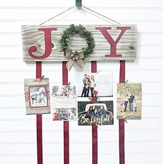 Check out our christmas wreath holder selection for the very best in unique or custom, handmade pieces from our shops. Christmas Card Hanger, Hanging Christmas Cards, Xmas Cards, Christmas Holidays, Christmas Wreaths, Christmas Decorations, Christmas Ideas, Christmas Porch, Christmas Stuff