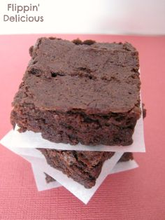 These really are the BEST brownies I've had, gluten-free or not. So fudgy and rich. Just you try and share! I couldn't.
