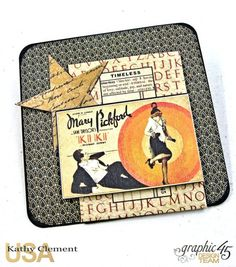 Born to Be a Star Photo Display Box Vintage Hollywood by Kathy Clement Product by Graphic 45 Photo 19