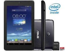 """Tablet Asus Fonepad 7 8GB Tela 7"""" 3G Wi-Fi - Android 4.2 Proc. Intel Atom + Cartão 16GB"""
