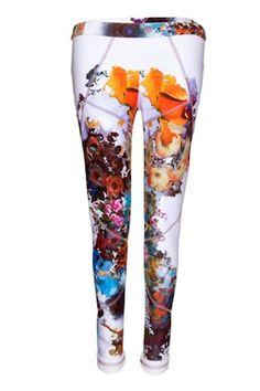 Cynthia Rowley Bonded Legging in White Floral