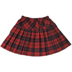 Nuoqi women's School Uniform Elasticated Pleat Skirt ($19) ❤ liked on Polyvore featuring skirts, knee length pleated skirt, pleated skirt, elastic waist skirt, red skirt and red knee length skirt