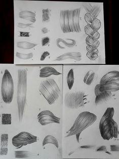 saç saç çalışması saç deneme saç çizimi sanat karakalem