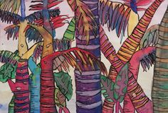 Rainforest paintings    Zart Art Easy Art Craft Activities | Primary School Activities | Australian activities for children/students/kids | Teacher Art Craft Lesson Plans | Australian School Teacher Education Resources
