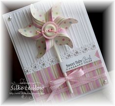pinwheel on stick, tied with bow