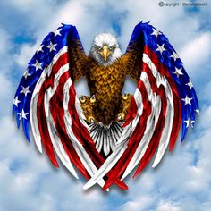 Decal sticker for Car motorcycle eagle with USA flag American Flag Decal, American Flag Eagle, Patriotic Pictures, Eagle Pictures, Fake Tattoos, Tattoos For Guys, Dojo, Patriotic Tattoos, Eagle Art