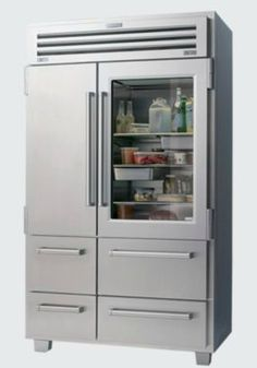 """Sub-Zero and Wolf PRO 48 with Glass Door    The Pro 48 Sub-Zero is the """"creme de la creme"""" of refrigerators in my opinion. Even though I don't have a glass window, I still like to organize what is in my refrigerator with some flair."""