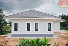 That Gray Bungalow with Three Bedrooms – Amazing Architecture Magazine Bungalow Floor Plans, Modern House Floor Plans, Sims House Plans, House Layout Plans, Craftsman House Plans, Modern Bungalow House Design, Design Your Dream House, Modern Design, Three Bedroom House Plan