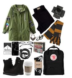 """""""Untitled #30"""" by lexhamilton ❤ liked on Polyvore featuring HUGO, Timberland, Black, New Look, Persol, Fjällräven, Oscar de la Renta, Forever 21, Marvel and HUF"""