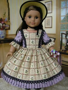American+Girl+doll+clothes++mid1800s+4+piece+ensemble+by+dolltimes