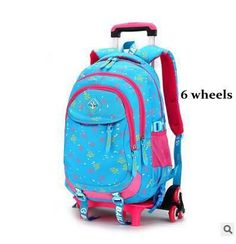 ceed70ff47a5 Brand Kids Children School Backpacks On wheels Travel Luggage Trolley Bags  On Wheels Children School Trolley Rolling Bags Carton