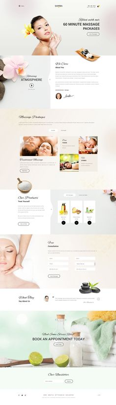 Samba Spa Joomla Massage Center Template