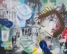 Lacraias de banheiro não morrem  Acrylic on canvas   Fernanda Lemos