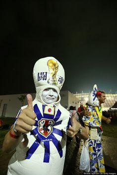 japanese soccer fans World Cup 2014, Fifa World Cup, Afc Football, Sports Fanatics, Soccer Fans, Best Fan, Best Games, Captain America, Japanese