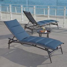 The Echo Padded Sling chaise lounge by Tropitone. Available from Rich's for the Home http://www.richshome.com/