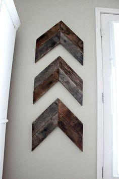 Reclaimed Wood Wooden Arrow Art Wall Hanging 3 by boaboowedding