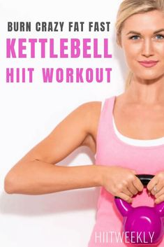 Burn Crazy Fat Fast With This Kettlebell HIIT Workout. Fat Burning Kettlebell Workout. #kettlebellworkout Crossfit Kettlebell, Kettlebell Training, Training Workouts, Cardio Workouts, Kettlebell Challenge, Weight Training, Circuit Training, Kettlebell Deadlift, Exercise Cardio