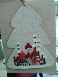 Villaggio russo su albero