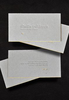 30 Incredible Letterpress Business Card Examples