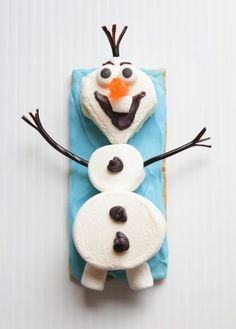 Olaf the Snowman Snacks - Disney's FROZEN movie.