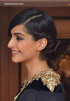 Sonam Kapoor hairstyle 2013 Vogue Beauty Awards